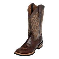 Ferrini Western Boot Men Maverick Rubber Sole Square Toe Choc 15093-09 [fabric_care_instructions: fabric_care_instructions-usequalityleathercareproducts. shoe_width: shoe_width-dmedium]