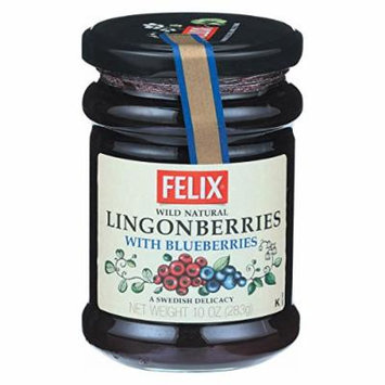 Felix Jam,Lingonberries W/Blbr 10 Oz (Pack Of 8)