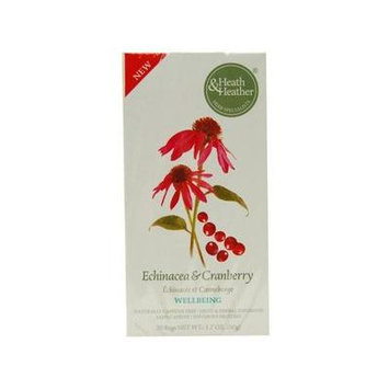 (12 PACK) - Heath And Heather - Echinacea & Cranberry | 20 Bag | 12 PACK BUNDLE