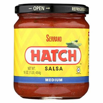 Hatch Farms, Inc. Salsa Serrano Medium 16 Oz (Pack Of 6)