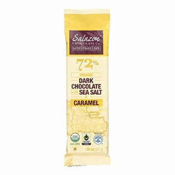 Salazon Chocolate Organic Dark Chocolate - Sea Salt and Caramel - Case of 16 - 0.75 oz.