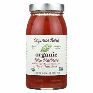 Organico Bello Marinara Pasta Sauce - Spicy - Case of 6 - 25 oz.