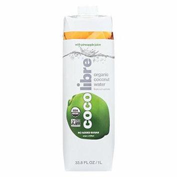 Coco Libre Coconut Water - Pineapple - Case of 12 - 33.8 Fl oz.