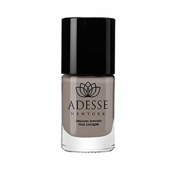 Adesse NY Organic Infused Nail Polish Lacquer Gel Effect Medium Grey Green