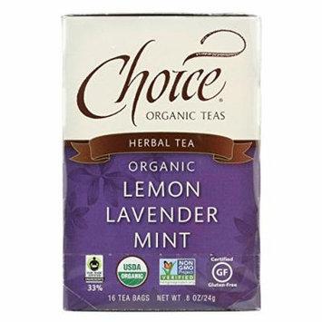 Choice Organic Herbal Tea - Lemon Lavender Mint - Case of 6 - 16 Bags