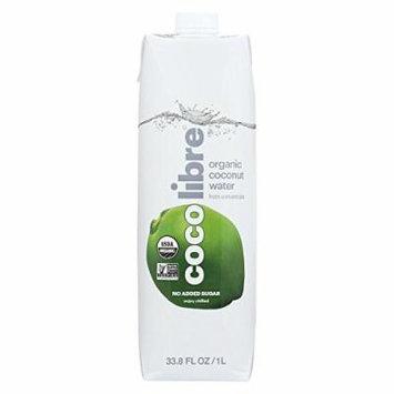 Coco Libre Pure Coconut Water - Case of 12 - 33.8 Fl oz.