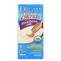 Dream Blends Original Unsweetened Rice and Quinoa Drink - Case of 6 - 32 FL oz.