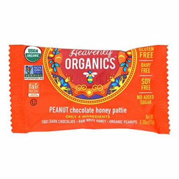 Heavenly Organics Heavenly Organics Chocolate Honey Patties - Peanut - Case of 40 - 0.39 oz.