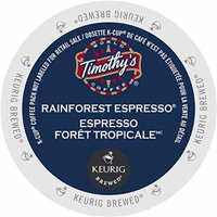 Green Mountain Timothy's Rainforest Espresso Extra Bold Coffee, K-Cup Portion Pack for Keurig Brewers 24 Count