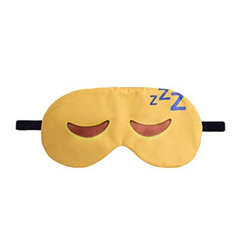 AhlsenL Kawaii Emoji Sleep Mask, Super Smooth Soft, Lightweight, Breathable and Comfortable, Elastic Strap Sleeping Mask Eye Cover Blindfold for Boys and Girls