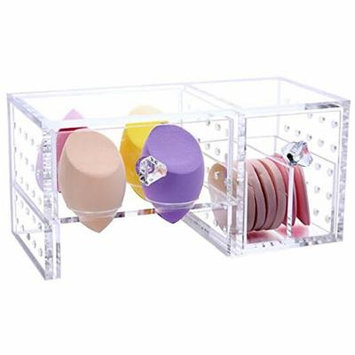 Acrylic Lipstick Holder Beauty Blender Organizer Makeup Storage Box Makeup Sponge Puff Organizer