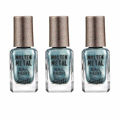 Barry M X 3 Molten Metal - Blue Glacier 10ml