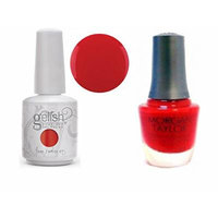 Harmony Gelish Duo Soak-Off Gel Color - Lucky Lady and Big Bang Red Nail Polish 0.5oz each.