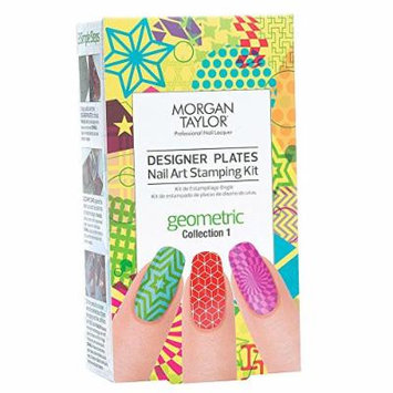 Morgan Taylor Designer Plates Nail Art Stamping Kit – Geometric Collection 1