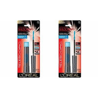 (Pack of 2) -VALUE PACK! - L'oreal Telescopic Shocking Extensions Waterproof Mascara - 981 Black - 7.2ml-0.24oz