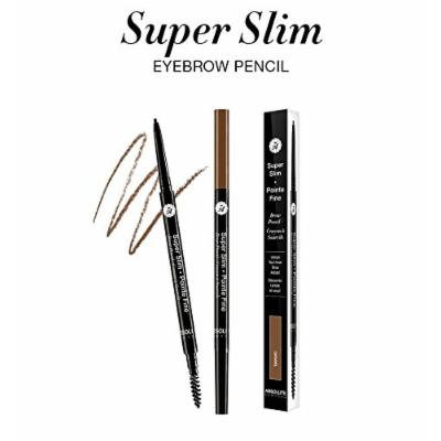 (PACK OF 3) ABSOLUTE NEW YORK Super Slim Brow Pencil - SSEB04 CARAMEL [e]