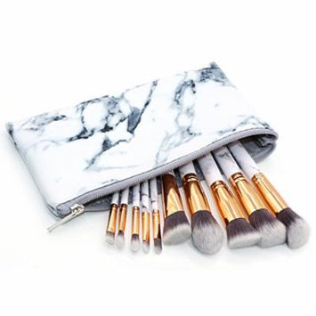 HOTER Makeup Brush Set Marble Pattern Cosmetic Makeup Tools with Free Case bag