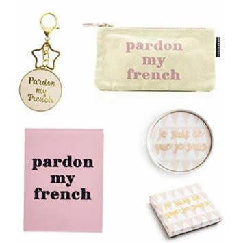 Francophile Women's Gift Set in Blush Pink notebook tray french france
