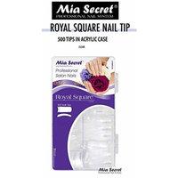 Mia Secret - Nail Tip Royal Square 100PC 500PC - Clear/White/Natural (500 Clear)