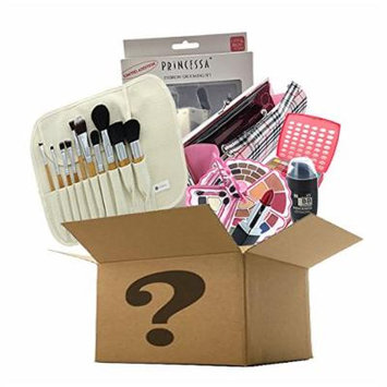 BR Makeup Surprise Mystery Box Gift Set - Exclusive All in One Makeup Set - Include Pro Makeup Brush Set, Eyeshadow Palette, Makeup Set, Lip Stick and Much More - COLORS VARIES (Medium, Artistic)