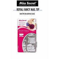 Mia Secret - Nail Tip Royal Square 100PC 500PC - Clear/White/Natural (500 Ultra White)