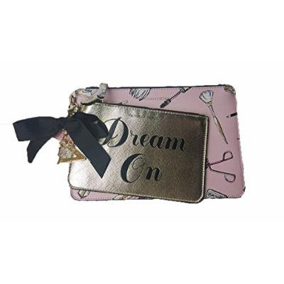 Victoria's Secret Dream On Pink And Gold Duo Cosmetic Bag