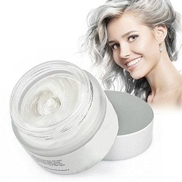 Mofajang Hair Wax Temporary Coloring Styling Cream Mud Dye - White