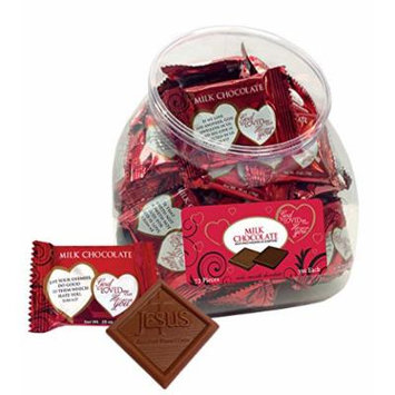 Scripture Candy 121771 Candy - V-God So Loved Me Jar-Milk Chocolate Squares
