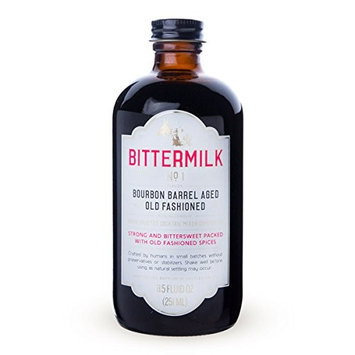 Bittermilk No.1 Bourbon Barrel Aged Old Fashioned Cocktail Mix, 8.5 oz