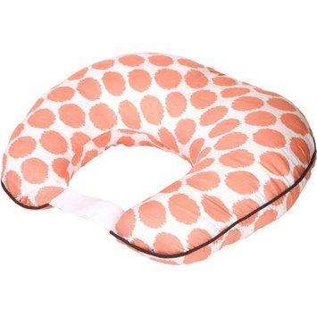 Bacati Ikat Zigzag Muslin Nursing Pillow with Insert, Coral Dots