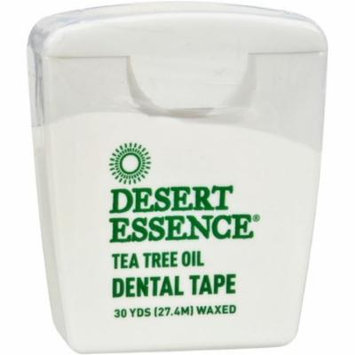 4 Pack - Desert Essence Tea Tree Oil Waxed Dental Floss Tape, 30 Yds 1 ea