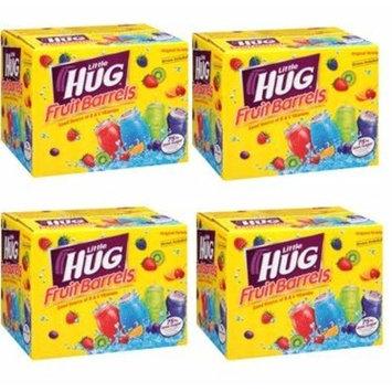 Little Hug Fruit Drink Barrels, Original Variety Pack, 8 Fl Oz, 40 Count (Pack of 4)
