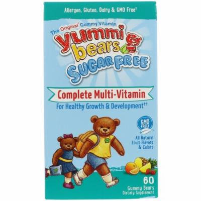Hero Nutritional Products, Yummi Bears, Complete Multi-Vitamin, Sugar Free, All Natural Fruit Flavors, 60 Gummy Bears(pack of 2)