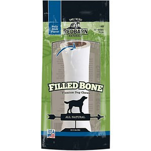 Redbarn Naturals Large Bully Stick Filled Natural Bones Dog Treat