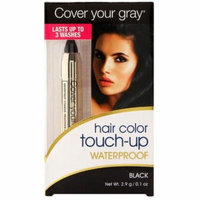 4 Pack - Cover Your Gray Waterproof Hair Color Touch-Up Chubby Pencil, Black 0.10 oz