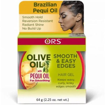 4 Pack - ORS Olive Oil Smooth & Easy Edges Hair Gel with Pequi Oil 2.25 oz