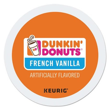 Dunkin' Donuts K Cup, French Vanilla, 0.37 Ounce, 24 Count