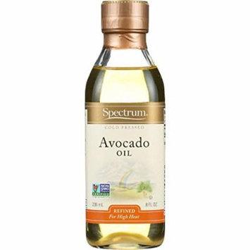 Spectrum Naturals Avocado Oil - Refined - 8 oz - case of 6 - For High Heat - Non GMO