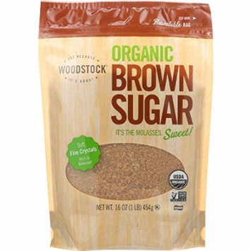 Woodstock - Organic Brown Sugar- 16 oz - case of 12 - Non GMO - Vegan
