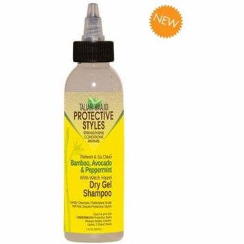 4 Pack - Taliah Waajid Refresh & So Clean Bamboo, Avocado & Peppermint Dry Gel Shampoo 4 oz