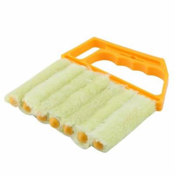 Microfibre Blind Brush Window Air Conditioner Duster Dirt Cleaner Cleaning Tool (Yellow)