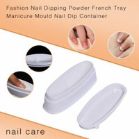 Womail Fashion Nail Dipping Powder French Tray Manicure Mould Nail Dip Container