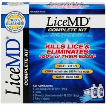 6 Pack - LiceMD 5 Piece Complete Kills Lice Kit 1 ea