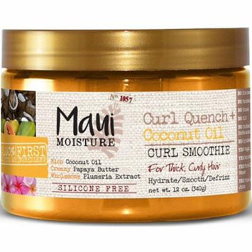 6 Pack - Maui Moisture Curl Quench + Coconut Oil Curl Smoothie 12 oz