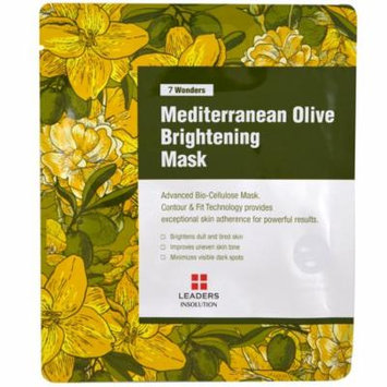 Leaders, Mediterranean Olive Brightening Mask, 1 Mask(pack of 6)