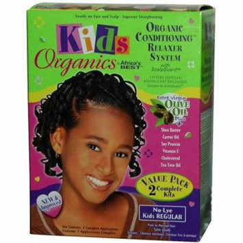 6 Pack - Africa's Best Kids Organics Conditioning Relaxer System 2 ea