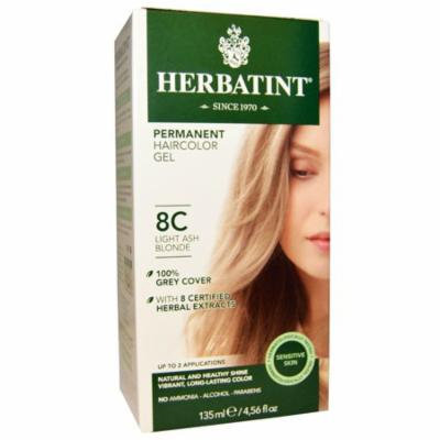 Herbatint, Permanent Haircolor Gel, 8C, Light Ash Blonde, 4.56 fl oz (pack of 4)