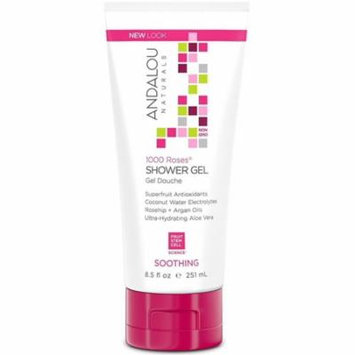 2 Pack - Andalou Naturals 1000 Roses Shower Gel, Soothing 8.50 oz