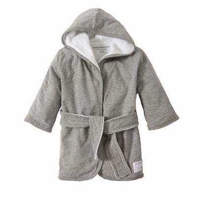 Burt's Bees Baby Organic Knit Terry Robe in Grey