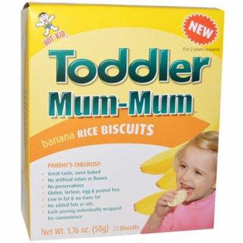 Hot Kid, Toddler Mum-Mum, Banana Rice Biscuits, 20 Biscuits, 1.76 oz (pack of 12)